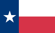 Texas- Printed Flag Image
