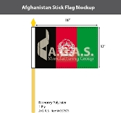 Afghanistan Stick Flags 12x18 inch
