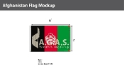 Afghanistan Flags 4x6 foot