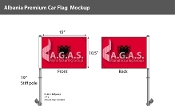 Albania Car Flags 10.5x15 inch Premium
