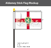Alderney Stick Flags 4x6 inch