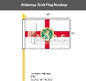Alderney Stick Flags 12x18 inch