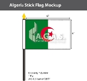 Algeria Stick Flags 4x6 inch