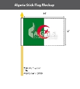 Algeria Stick Flags 12x18 inch