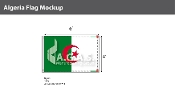 Algeria Flags 4x6 foot