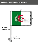 Algeria Car Flags 12x16 inch Economy
