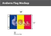 Andorra Flags 12x18 inch (with seal)