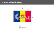 Andorra Flags 2x3 foot (with seal)