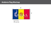 Andorra Flags 3x5 foot (with seal)