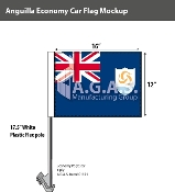 Anguilla Car Flags 12x16 inch Economy