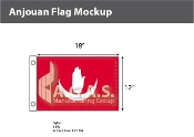 Anjouan Flags 12x18 inch