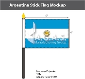 Argentina Stick Flags 4x6 inch (with seal)
