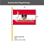Austria Stick Flags 12x18 inch (with seal)