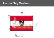 Austria Flags 12x18 inch (with seal)