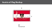 Austria Flags 2x3 foot (with seal)