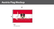 Austria Flags 8x12 foot (with seal)