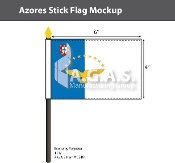 Azores Stick Flags 4x6 inch