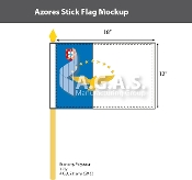 Azores Stick Flags 12x18 inch