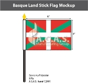 Basque Lands Stick Flags 4x6 inch