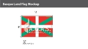 Basque Lands Flags 8x12 foot