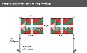 Basque Lands Car Flags 10.5x15 inch Premium