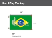 Brazil Flags 12x18 inch