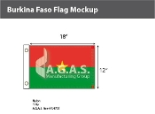 Burkina Faso Flags 12x18 inch