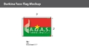 Burkina Faso Flags 2x3 foot