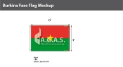 Burkina Faso Flags 4x6 foot