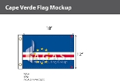 Cape Verde Flags 12x18 inch