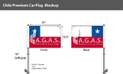 Chile Car Flags 10.5x15 inch Premium