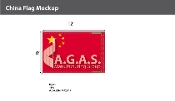 China Flags 8x12 foot