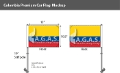 Colombia Car Flags 10.5x15 inch Premium