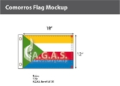 Comoros Flags 12x18 inch