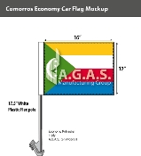Comoros Car Flags 12x16 inch Economy