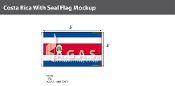 Costa Rica Flags 3x5 foot (with seal)