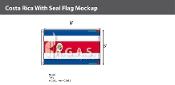 Costa Rica Flags 5x8 foot (with seal)