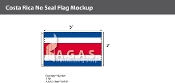 Costa Rica Flags 3x5 foot (no seal)
