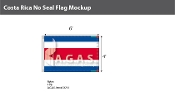 Costa Rica Flags 4x6 foot (no seal)