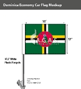 Dominica Car Flags 12x16 inch Economy
