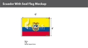 Ecuador Flags 4x6 foot (with seal)