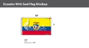 Ecuador Flags 6x10 foot (with seal)
