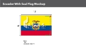 Ecuador Flags 8x12 foot (with seal)