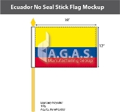 Ecuador Stick Flags 12x18 inch (no seal)
