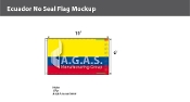 Ecuador Flags 6x10 foot (no seal)