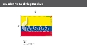 Ecuador Flags 8x12 foot (no seal)