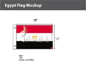 Egypt Flags 12x18 inch