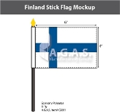 Finland Stick Flags 4x6 inch