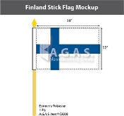 Finland Stick Flags 12x18 inch