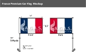 France Car Flags 10.5x15 inch Premium